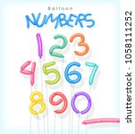 number set illustrated as... | Shutterstock .eps vector #1058111252
