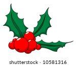christmas holly | Shutterstock .eps vector #10581316