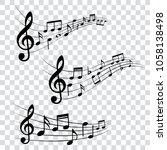 set of musical design elements  ... | Shutterstock .eps vector #1058138498