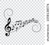 musical design element  music... | Shutterstock .eps vector #1058138576