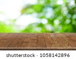 wooden worktop surface with old ... | Shutterstock . vector #1058142896