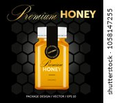 premium honey package design... | Shutterstock .eps vector #1058147255