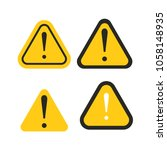 set of triangle caution icons.... | Shutterstock .eps vector #1058148935