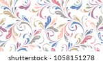 floral seamless background for... | Shutterstock .eps vector #1058151278