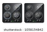 vector 3d realistic gas stove.... | Shutterstock .eps vector #1058154842