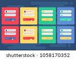 web template and elements for... | Shutterstock .eps vector #1058170352