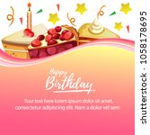 happy birthday with various... | Shutterstock .eps vector #1058178695