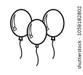 balloons   party icon vector | Shutterstock .eps vector #1058182802