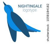 nice logo of a bird. cute... | Shutterstock .eps vector #1058184182