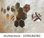 abstract interior with... | Shutterstock . vector #1058186582
