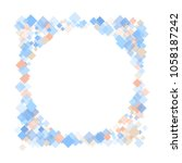 rhombus print minimal geometric ... | Shutterstock .eps vector #1058187242