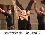 four black and hispanic dance... | Shutterstock . vector #105819032