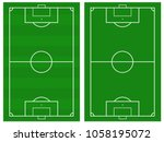 illustration of a soccer field. ... | Shutterstock .eps vector #1058195072