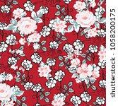 floral pattern in vector   Shutterstock .eps vector #1058200175