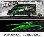 abstract van graphic kit for... | Shutterstock .eps vector #1058201252