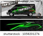 abstract van graphic kit for... | Shutterstock .eps vector #1058201276