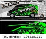 abstract van graphic kit for... | Shutterstock .eps vector #1058201312