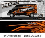 abstract van graphic kit for... | Shutterstock .eps vector #1058201366