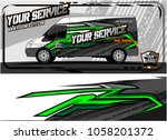 abstract van graphic kit for... | Shutterstock .eps vector #1058201372