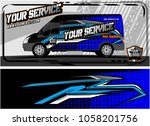 van graphic kit. modern vehicle ... | Shutterstock .eps vector #1058201756