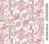 floral pattern in vector   Shutterstock .eps vector #1058203208