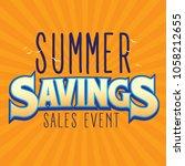 summer savings sales event...   Shutterstock .eps vector #1058212655