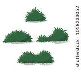 set of green bushes. natural... | Shutterstock .eps vector #1058233052