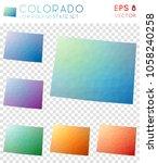 colorado geometric polygonal... | Shutterstock .eps vector #1058240258