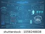 hud dashboard abstract ...