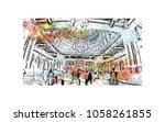 sultan qaboos grand mosque in...   Shutterstock .eps vector #1058261855