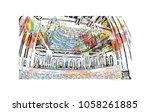 sultan qaboos grand mosque in...   Shutterstock .eps vector #1058261885