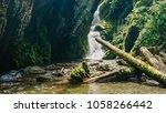 landscape of beautiful... | Shutterstock . vector #1058266442