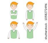 cartoon actions man wearing... | Shutterstock .eps vector #1058272496