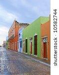 rainy street in campeche | Shutterstock . vector #10582744