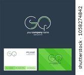 letters g q  g   q joint logo... | Shutterstock .eps vector #1058274842