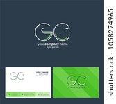 letters g c  g   c joint logo... | Shutterstock .eps vector #1058274965