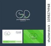 letters g d  g   d joint logo... | Shutterstock .eps vector #1058274968