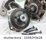engine gear wheels  mechanical... | Shutterstock . vector #1058293628
