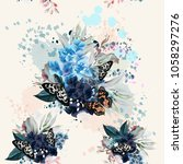 beautiful artistic pattern with ... | Shutterstock .eps vector #1058297276