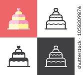 wedding cake icons | Shutterstock .eps vector #1058309876