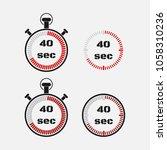 timer 40 seconds on gray... | Shutterstock .eps vector #1058310236