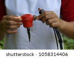 close up image of geophone for... | Shutterstock . vector #1058314406