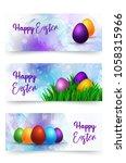 vector llustration happy easter ... | Shutterstock .eps vector #1058315966