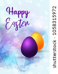 vector llustration happy easter ... | Shutterstock .eps vector #1058315972