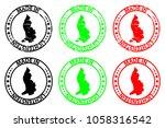 made in lichtenstein   rubber... | Shutterstock .eps vector #1058316542