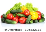fresh vegetables isolated on... | Shutterstock . vector #105832118