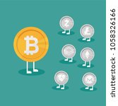 cryptocurrency on blue... | Shutterstock .eps vector #1058326166