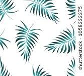 palm pattern. tree  jungle... | Shutterstock .eps vector #1058333375