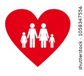 happy family. mother  father ... | Shutterstock .eps vector #1058347556