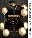 graduation party elegant banner ... | Shutterstock .eps vector #1058362928
